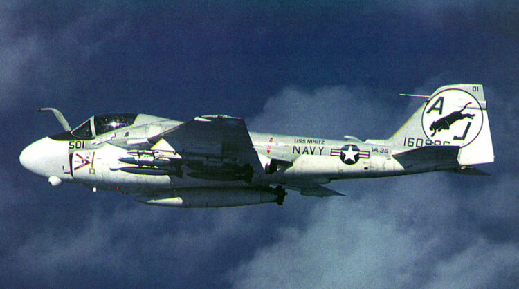 A-6E in flight